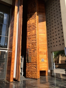 Bill of Rights carved into the doors of the Constitutional Court