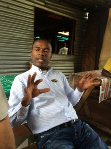 Our outstanding tour guide for Soweto, Sipho.