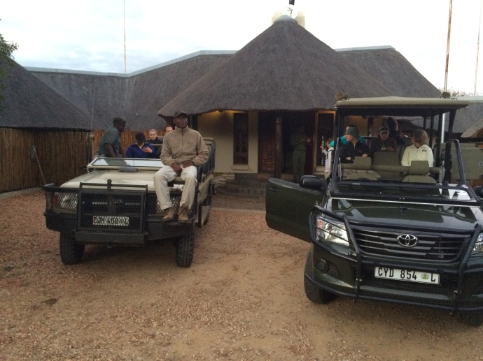 Loading up for game drive