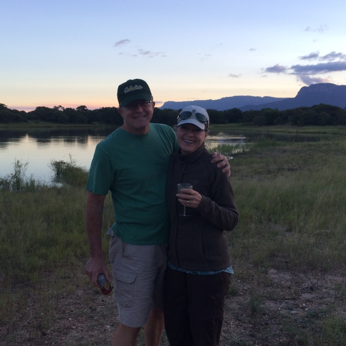 Sundowner: a stop on the evening game drive