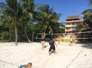 Our own beach volleyball court