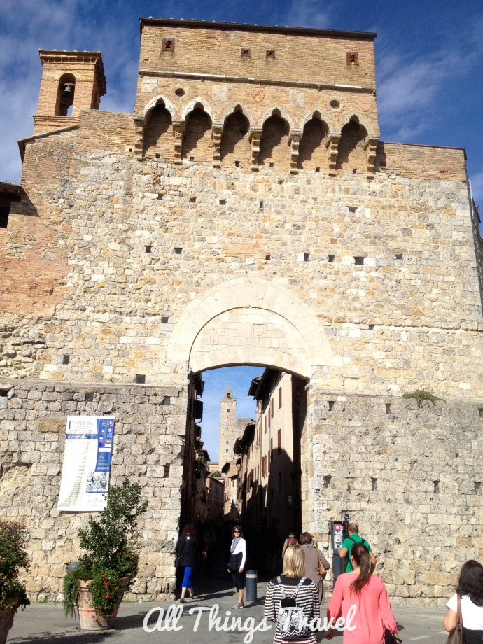 Gate in the wall surrounding San Gimignano