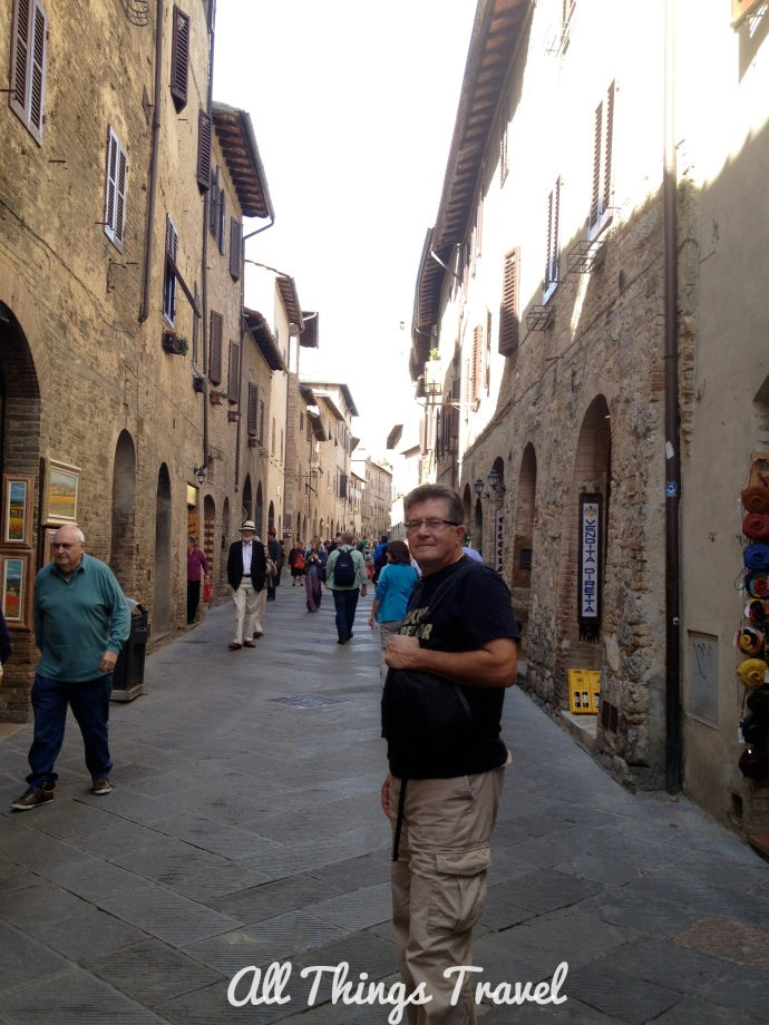 Medieval street in San Gimignano