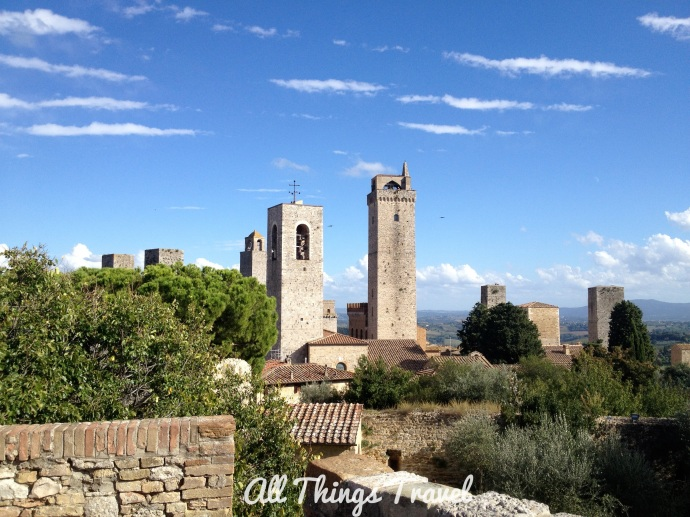 Several towers in San Gimignano