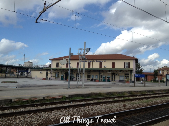 Pisa Train Station across the tracks