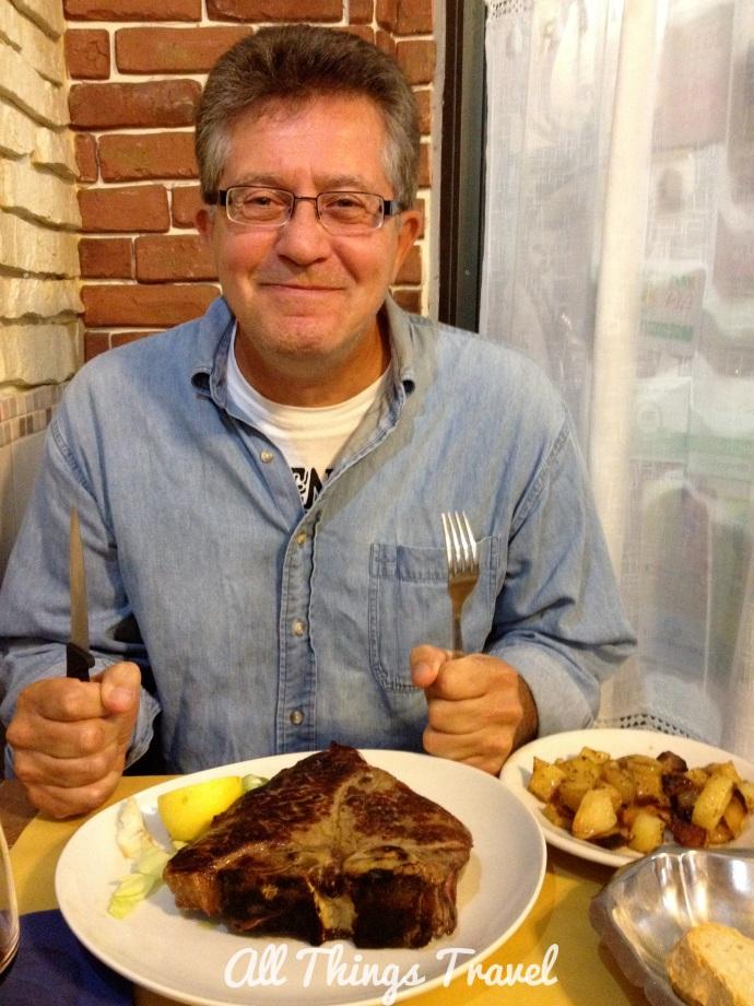 Jim before Bistecca alla Fiorentina