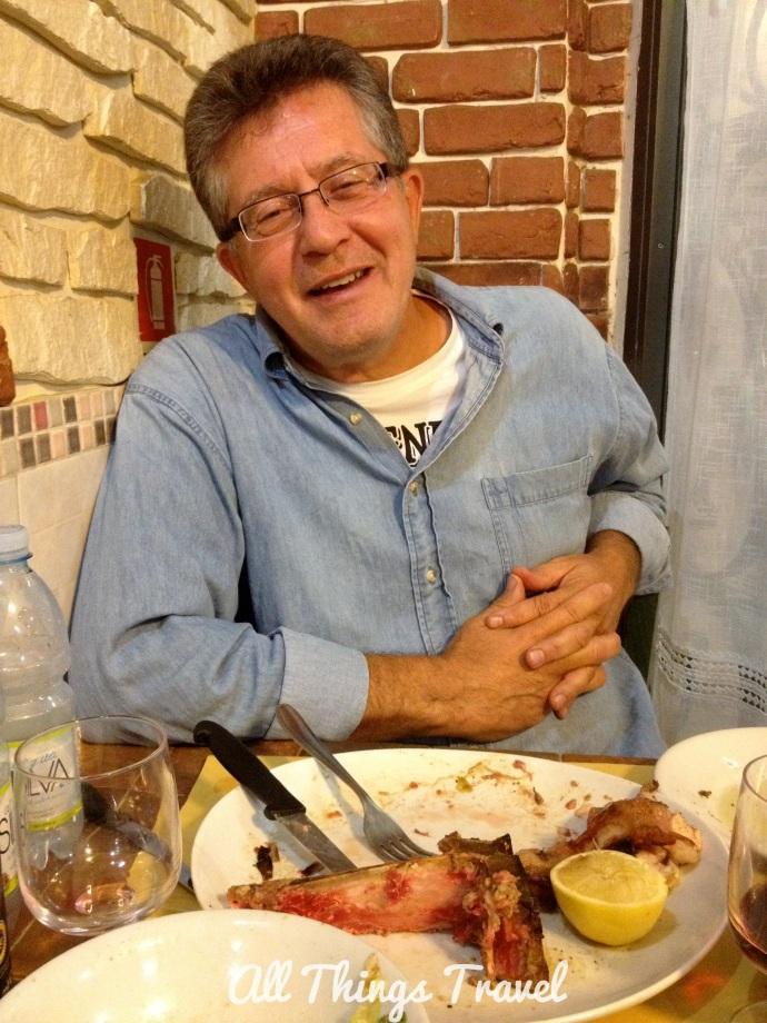 Jim after Bistecca alla Fiorentina