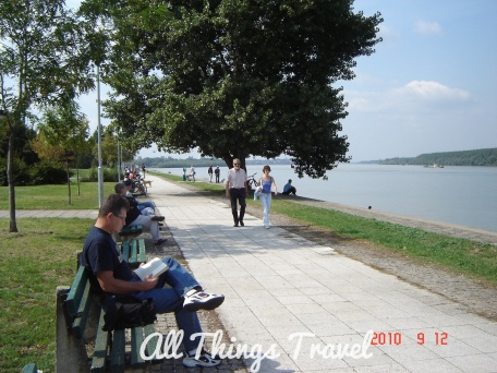 Relaxing by the Danube
