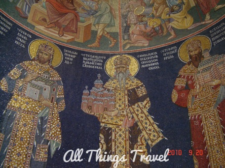 Mosaic inside St. George's Church