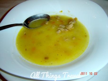 Beef soup--spoon food