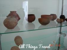 Pottery exhibit at Lepenski Vir