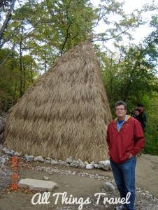 Recreated dwelling at Lepenski Vir
