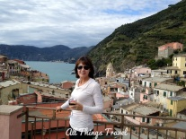 View of Vernazza from terrace