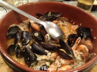 Seafood Risotto at Ristorante Incadase da Piva, Vernazza