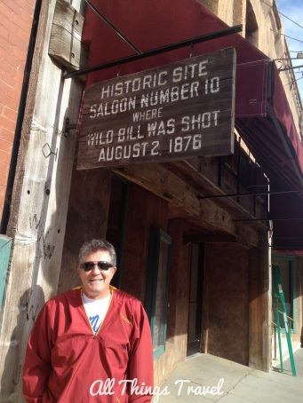 Pre-fire location of Saloon No. 10 where Wild Bill Hickok was shot