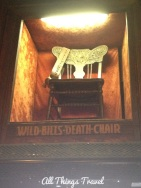 Chair occupied by Wild Bill when he was shot