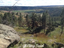 View from trail around Devils Tower