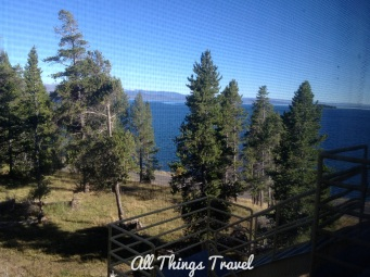 View from our room at Lake Yellowstone Hotel