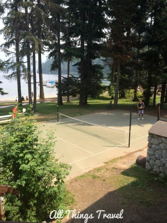 Pickle ball at Hill's Resort