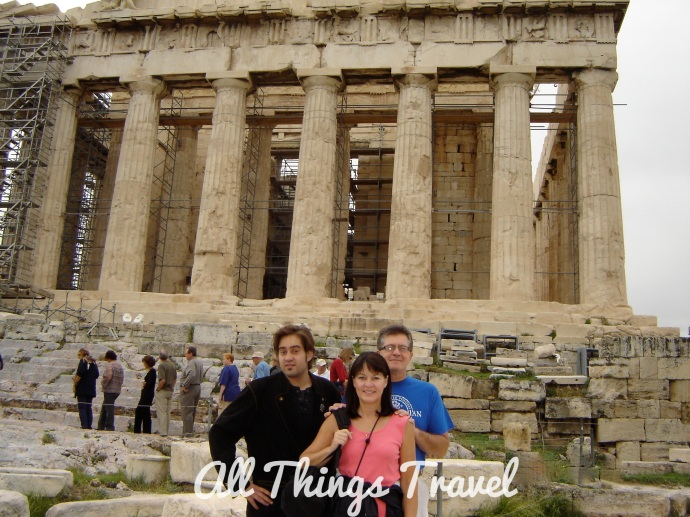 Michael, Jim, and me at the Parthenon