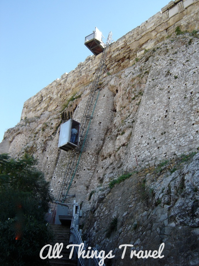 Elevator up the Acropolis