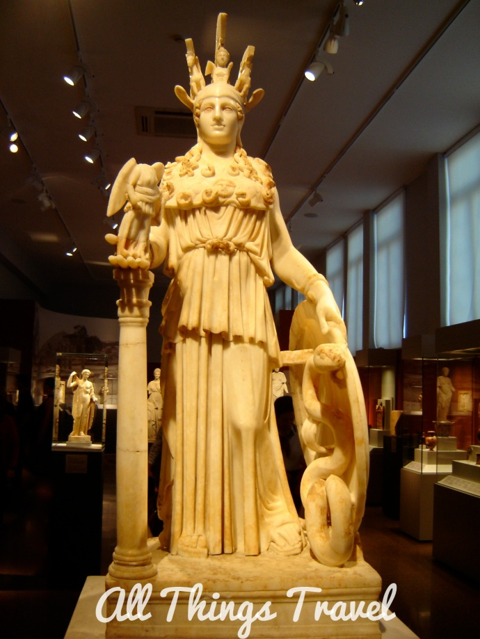 Statue of Athena in the National Archeological Museum Athens