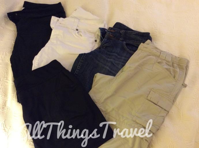 3 shorts, zip off pants, skort