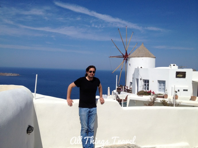 The author, Michael, in Oia, Santorini, April, 2013