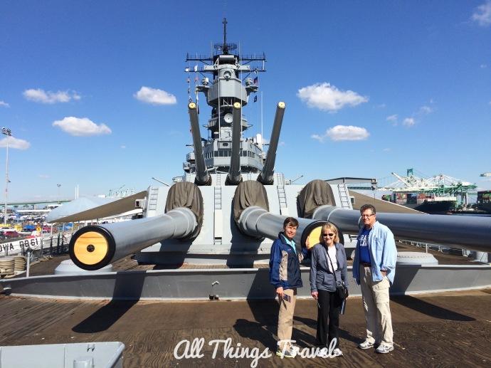 !6 inch guns on Iowa Battleship
