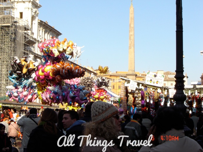 Christmas Market in Piazza Navona, Rome, Italy