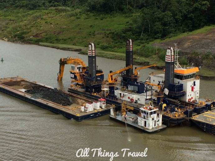 Dredging to improve channel navigation