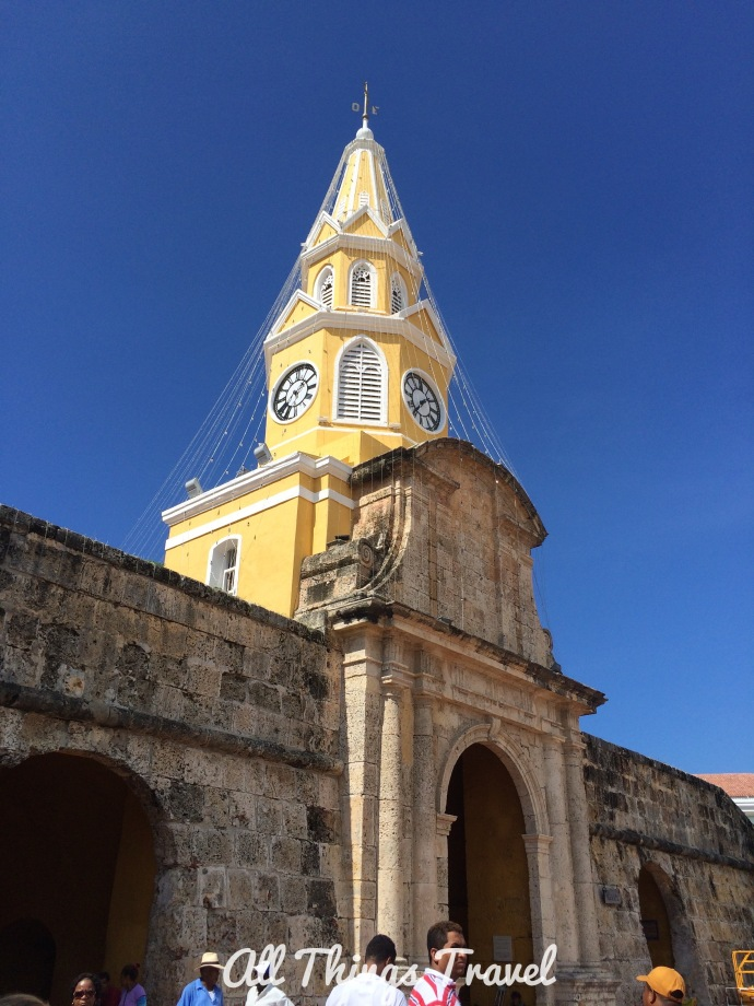 Clock tower, Cartagena, Colombia