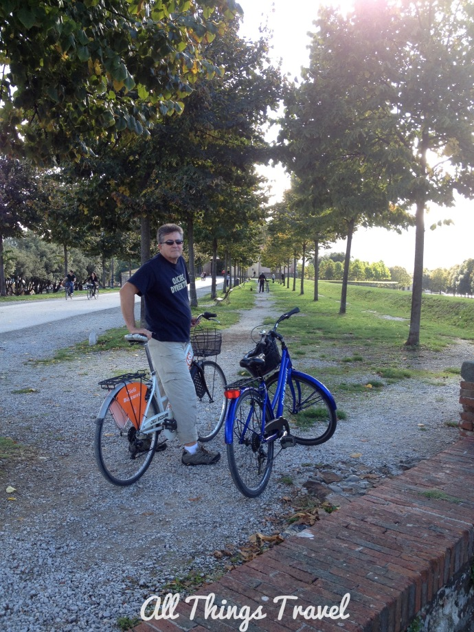 Biking the ramparts in Lucca, Italy, 2013
