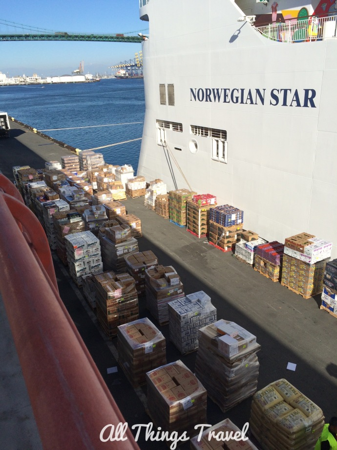 Provisions to be transported onboard