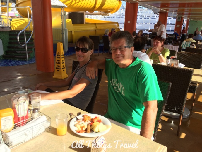 Breakfast by the pool on the Norwegian Star