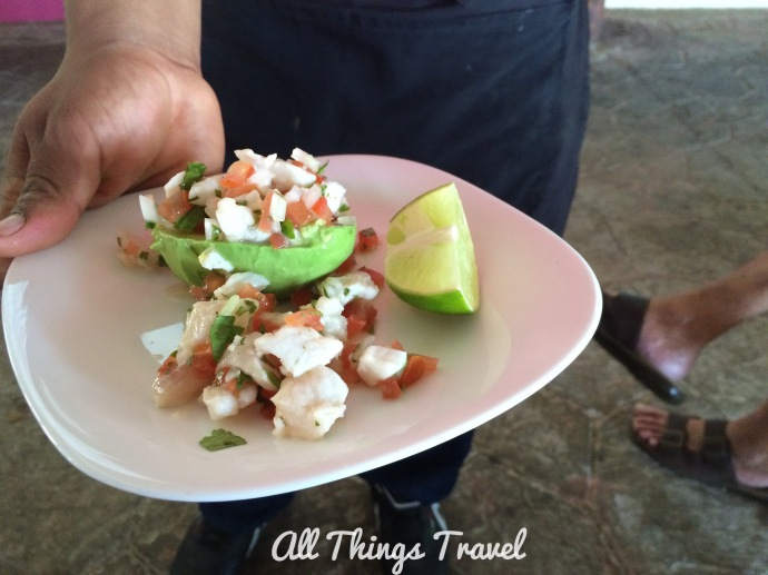 Ceviche Stuffed Avocado