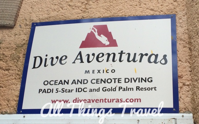 Dive shop in Puerto Aventuras