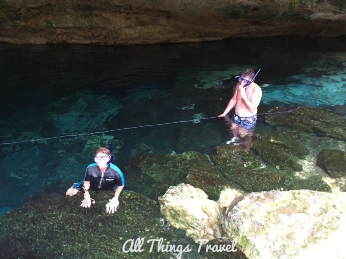 Gail and Jim in cenote