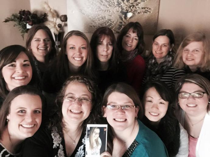 North Iowa Bloggers Selfie with Amy