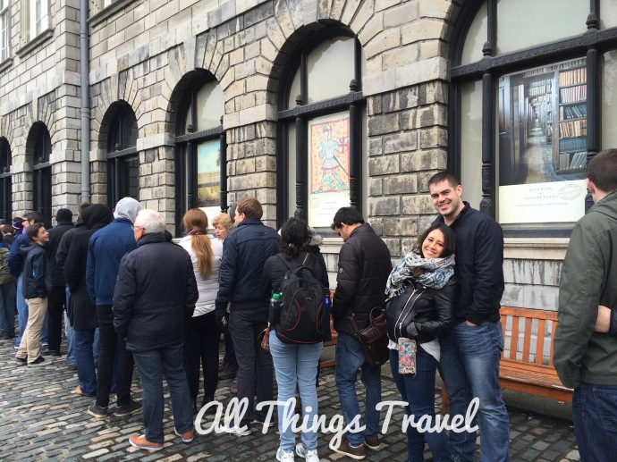 Queue for the Book of Kells Exhibit