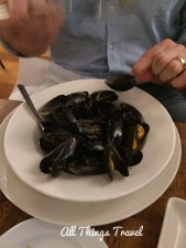Steamed Local Mussels
