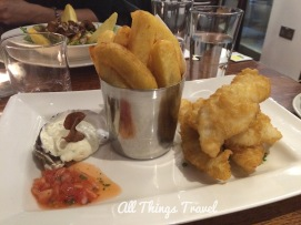 Deep Fried Haddock in Tempura Batter with Homemade Chips