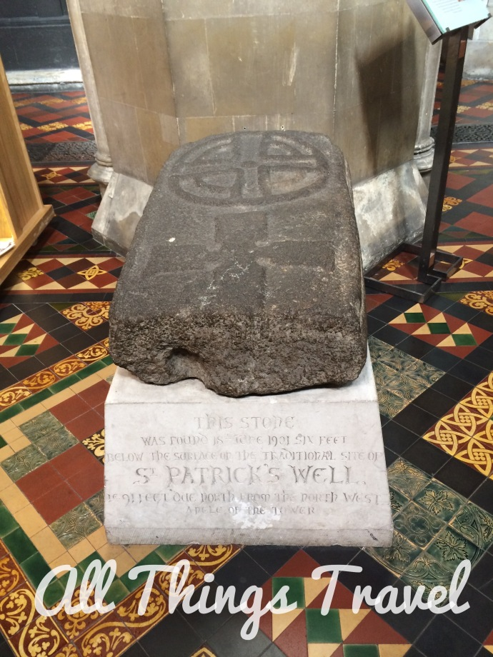 Grave slab from St. Patrick's Cathedral
