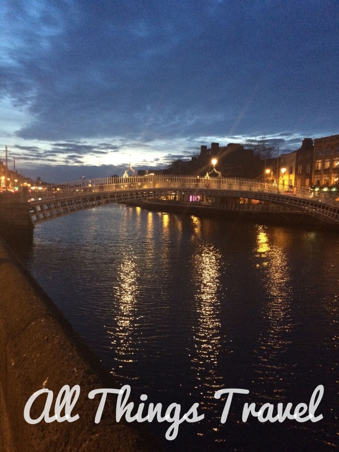 The Ha'penny Bridge over the River Liffey