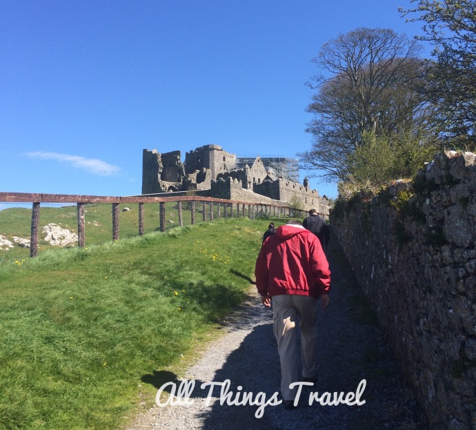 Jim walking up the back path to the Rock of Cashel