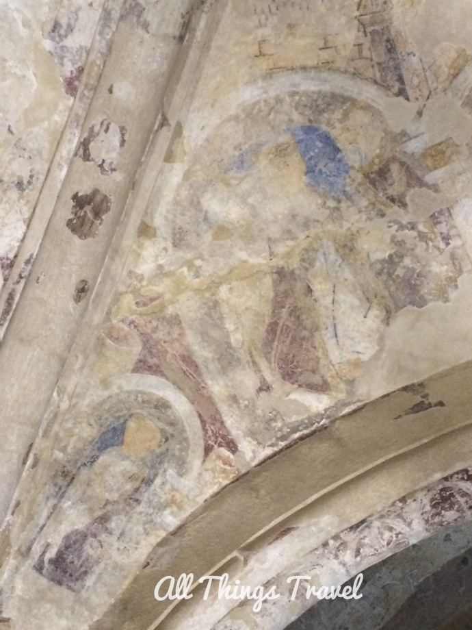 Remaining fragments of frescoes in Cormac's Chapel, Rock of Cashel