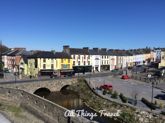 View of the town of Cahir from the castle