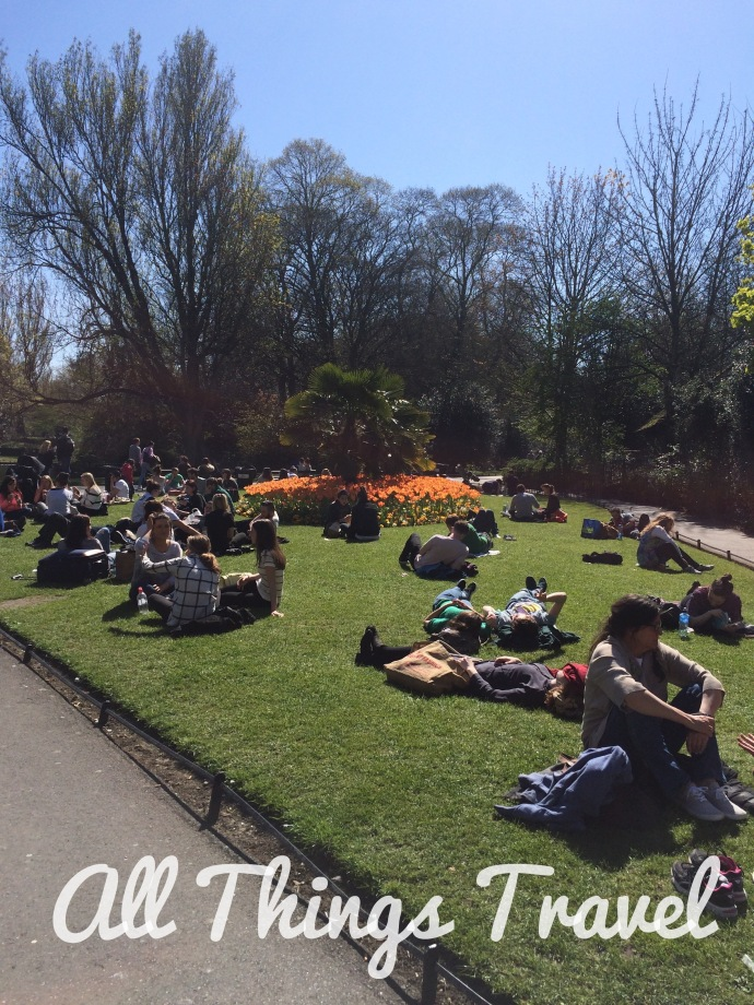 Lounging in St. Stephen's Green