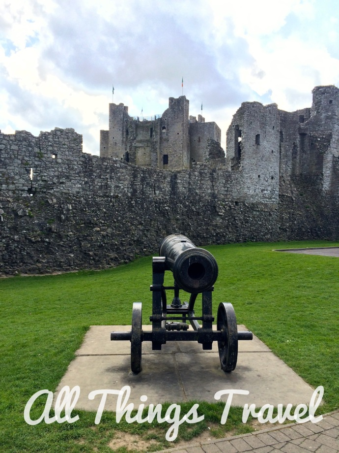 Trim Castle from outside the gate