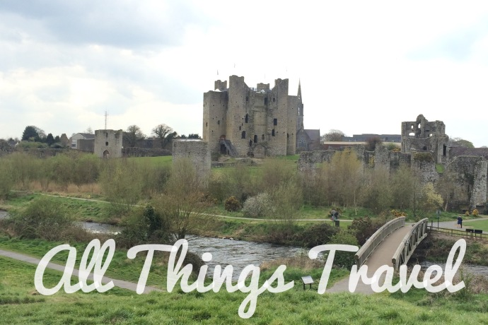 View of Trim Castle from across the River Boyne near St Mary's Abbey